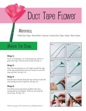 Duct Tape Flower Instructions