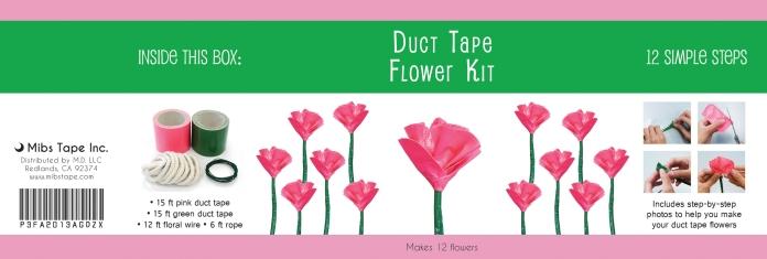 Duct Tape Flower Kit Label