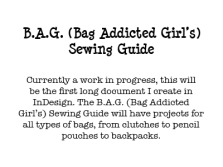 B.A.G. Sewing Guide
