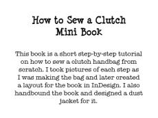 How to Sew a Clutch Mini Book