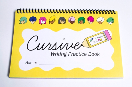 Cursive Writing Practice Book Front Cover