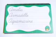 Cursive Writing Practice Book Letter A Words