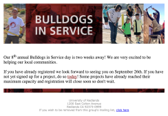 Bulldogs in Service Email