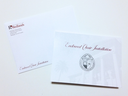 Dean of Education Endowed Chair Installation Invitation